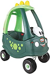 COZY COUPE DINO! - The unique dinosaur style will get their imaginations in overdrive and take creative play to whole new level! REMOVABLE FLOOR BOARD - Removable floor board, when the floor is in, little ones' feet are protected; take the floor out ...