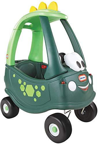 Little Tikes Cozy Coupe Dino - Gioco Cavalcabile, Poggiapiedi Rimovibile, Clacson che Funziona Davvero, Interruttore di Accensione e Tappo del Serbatoio, Età dai 18 mesi in su