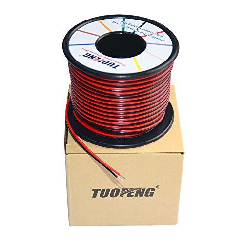 TUOFENG Cable eléctrico de PVC de calibre 18 Carrete de 20 metros...