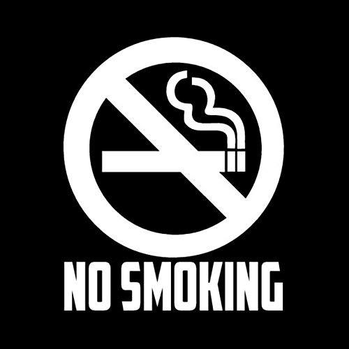 11.5cm X 14cm Señales de advertencia de recordatorio creativo que prohíben calcomanías de vinilo para fumar (Color Name : Silver)