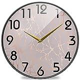 Shutterstock_1071798716 Reloj de Pared Redondo con impresión, silencioso Reloj de Escritorio silencioso, analógico de Cuarzo, operado por batería, para el hogar, la Oficina, la Escuela