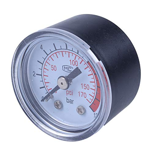 Cuasting R 0-12 Bar 0-170 PSI 10 mm Gewinde Gas Luftpumpe Druck Gauge Kompressor Manometer