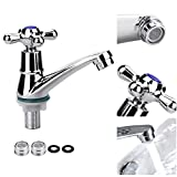 SSPECOTNR Basin Faucet <span class='highlight'>Single</span> Cold Faucet Basin Mixer <span class='highlight'><span class='highlight'>Taps</span></span> <span class='highlight'>Single</span> <span class='highlight'>Handle</span> Water Nozzle Cold Water Tap <span class='highlight'>Bathroom</span> Cloakroom <span class='highlight'>Sink</span> Tap Chrome Cross <span class='highlight'>Handle</span> <span class='highlight'>Bathroom</span> Faucet with Filter for <span class='highlight'>Bathroom</span> <span class='highlight'>Kitchen</span>