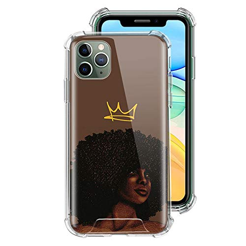ZENGMING Black Girl Melanin Poppin Case For Apple iPhone Clear Soft Airbag Anti Phone Cover A10 For Funda iPhone 6 (iPhone 6S)