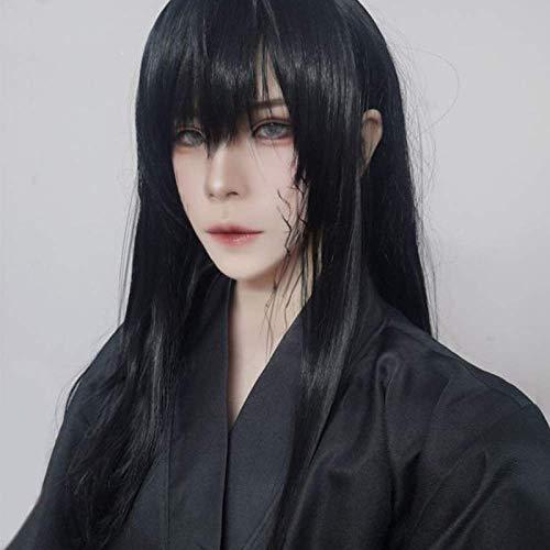 pruiken Anime pruik man lang steil haar vrouwen grote natuurlijke zwarte nep haar show show volledige hoofddeksels