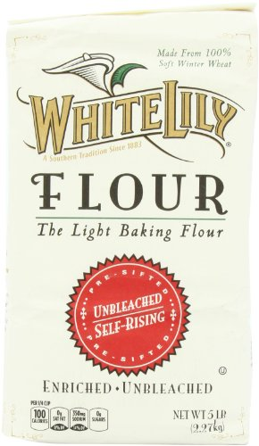 White Lily Unbleached Self Rising Flour, 5-lb bag