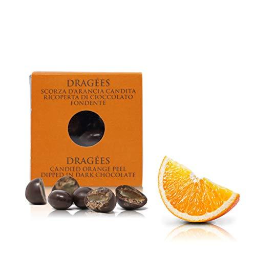 Ta Milano Peladillas de Naranja confitada Cubiertas de Chocolate Negro 66% Cacao, praliné - 120 gr