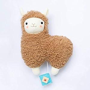 Baby Spieluhr Lama von Petiti Panda, zum Aufhängen, aus Baumwoll-Plüsch gefertigt