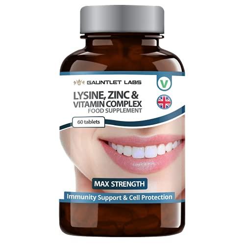 L-Lysine with Zinc & Vitamins E, C & B6 | 5 Ingredient Supplement | Unique Premium Formula | Made in The UK