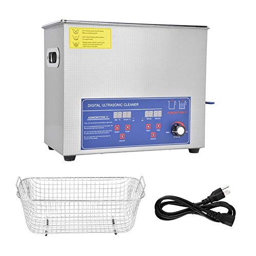 Ultrasonic Cleaner 6L, SUS304 Digital Ultrasonic Cleaner, 40KHz Industria Power Temperatura regolabile Kit di strumenti di pulizia(US Plug 110V)