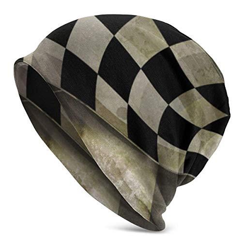AEMAPE Fondo Horizontal Vintage Negro Unisex Beanie Cap Gorro de Punto Gorro elástico Gorro de Calavera Pullover Cap Sombreros