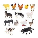 14 figuras de animales de granja de la selva, juguetes realistas,...
