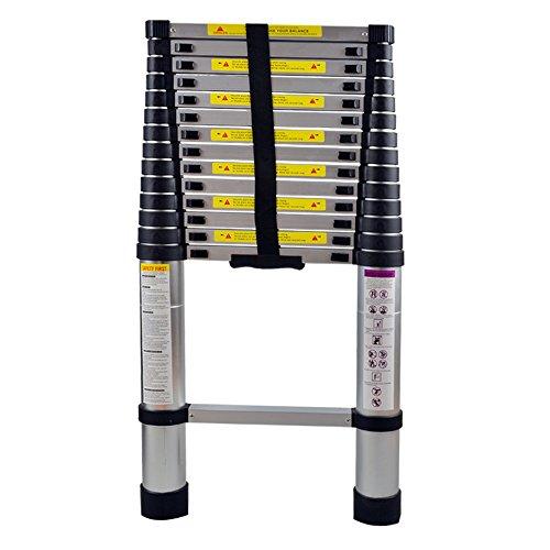 SAILUN® Teleskopleiter Ausziehleiter aus hochwertigem Alu Teleskop-Design Mehrzweckleiter, 15 Sprossen - 94cm bis 4,40m Anlegeleiter, 150 kg Belastbarkeit (4,4m)