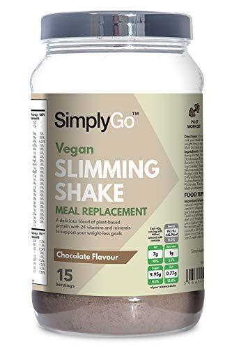 Slimming Shake für Veganer - Mahlzeitenersatz mit Schokoladengeschmack - 600g - SimplySupplements