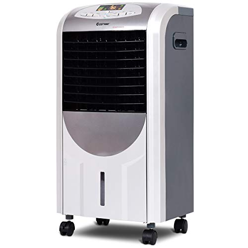 COSTWAY 5 in 1 Compact Air Cooler | Heater | Humidifier | Fan | Purifier,...