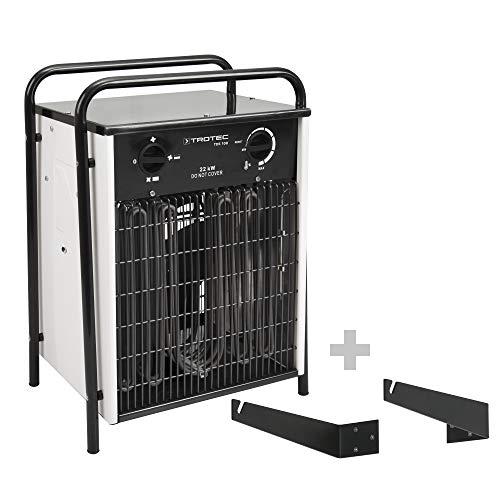 TROTEC TDS 100 Elektroheizer mit 22 kW Heizlüfter Heizgerät Bauheizer inkl. Wand- und Deckenhalterung