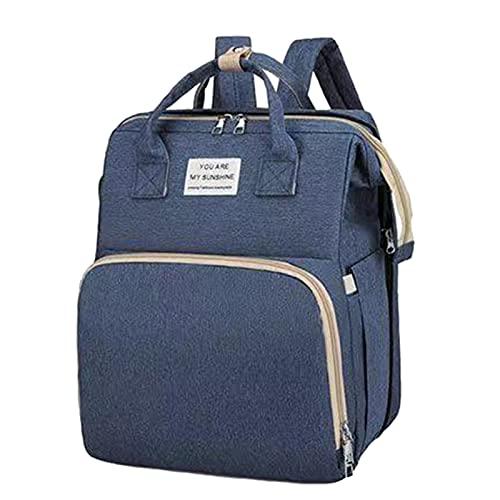 Mochila de la bolsa de pañales - 3 en 1 estación de cambio de pañales de bebé, bolsa de mami impermeable plegable portátil, bolsa de cambio de pañales, paquete trasero de viaje multifunción