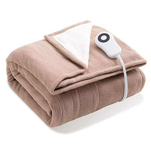 Bedsure Heated Blanket Throw Electric - with 5 Heat Setting,...