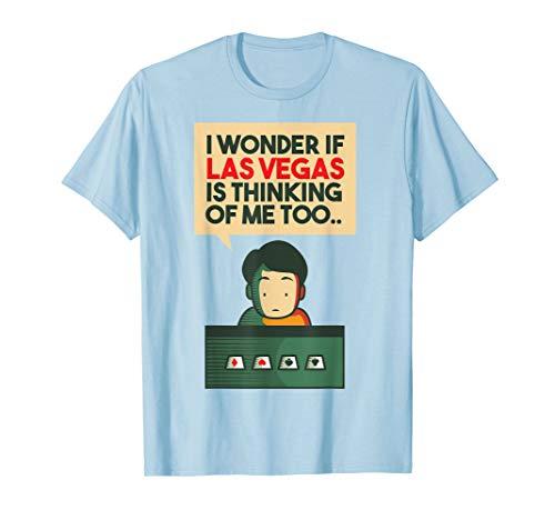 Funny I Love Vegas Gamblers Novelty Poker Card Player Winner T-Shirt
