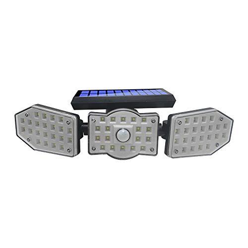 62 LED de luz solar al aire libre de la lámpara solar alimentada por la luz solar impermeable Pir sensor de movimiento luz de calle para la decoración del jardín