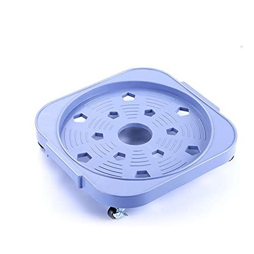 Swhcvj Vassoio Mobile per vasi di Fiori, Supporto Mobile per Fiori con Ruota Universale con Freno, bancale per Piante Rotondo, Base Mobile per Piante con Ruote Rotonde(Azzurro)