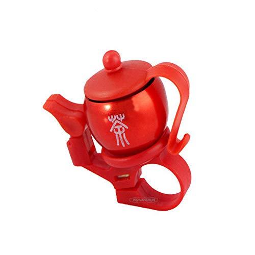 Fahrradklingel Fahrradklingel, Persönlichkeit chinesische Art rote Teekanne Form, Fahrrad-Bell for Erwachsene und Kinder, Crisp Laut Wohlklang, Mountainbike Bell Rennrad Bell-Fahrrad-Zubehör for Kinde