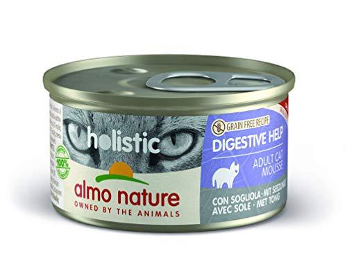 almo nature Holistic Digestive Help mit Seezunge - Alleinfutter für Erwachsene Katzen,Nassfutter 24er Pack (24x85g)