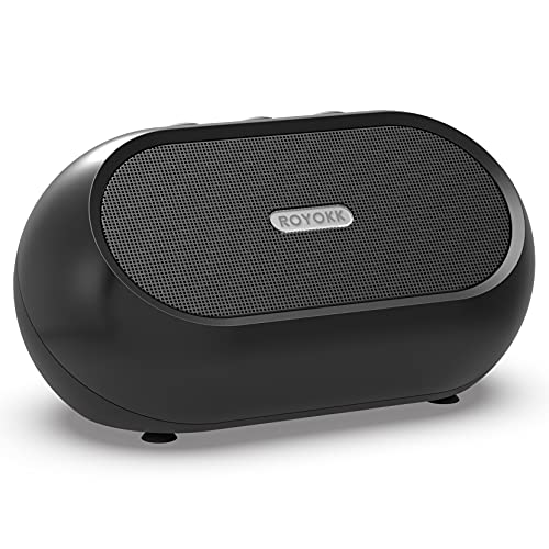 ROYOKK Small USB PC Speakers for Laptop & Desktop, Mini Portable Computer Speakers, Small Sound Bar with Higher Quality Sound Louder Volume & Richer Bass – Upgraded with Volume Control