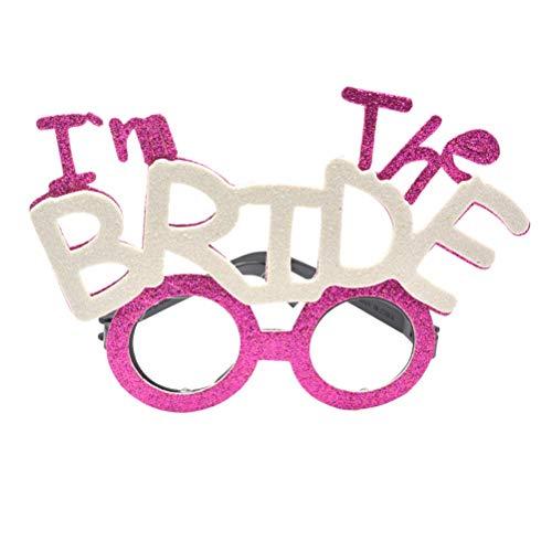 Amosfun Gafas de novia con diseño de Yo Soy la novia para boda, fiesta, despedida de soltera, disfraces, accesorio para fiestas de boda
