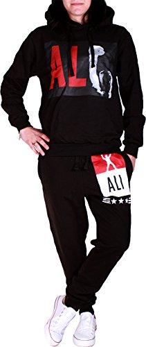 Damen Trainingsanzug   Muhammad Ali 667 (M= fällt größer aus, Schwarz)