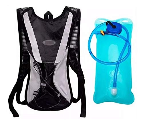 Mochila Hidratação Térmica Impermeável C/Bolsa D`água Bike 2 Litros Cor Preta bolsa de água mochila para água