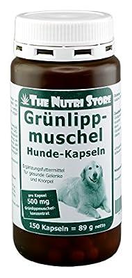 The Nutri Store Grünlippmuschel 500 mg für Hunde Kapseln 150 STK. - Ergänzungsfuttermittel für gesunde Gelenke und Knorpel