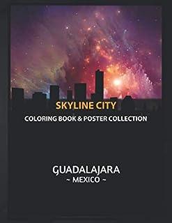 Coloring Book & Poster Collection: Skyline City Guadalajara Mexico Skyline Cartoons