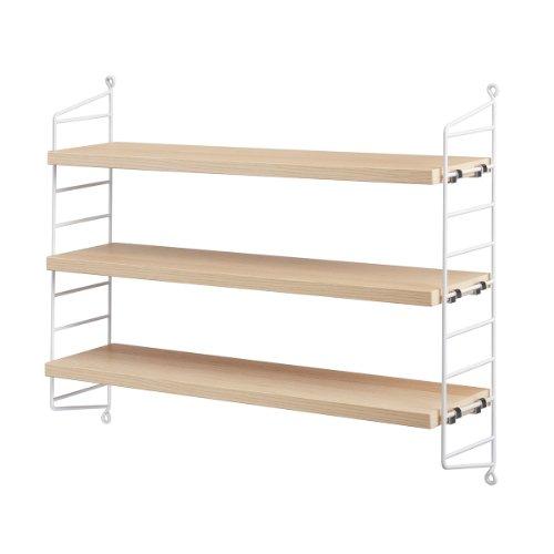 String Pocket - Estantería 60x50x15cm fresno/blanco/lacado/An. x Al. x P 60x50x15cm