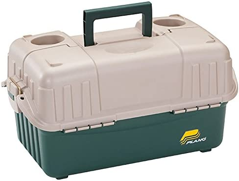 Frabill Plano Boston Mall Hip Quantity limited Roof Tackle Box Sandstone Trays - 6 w Green