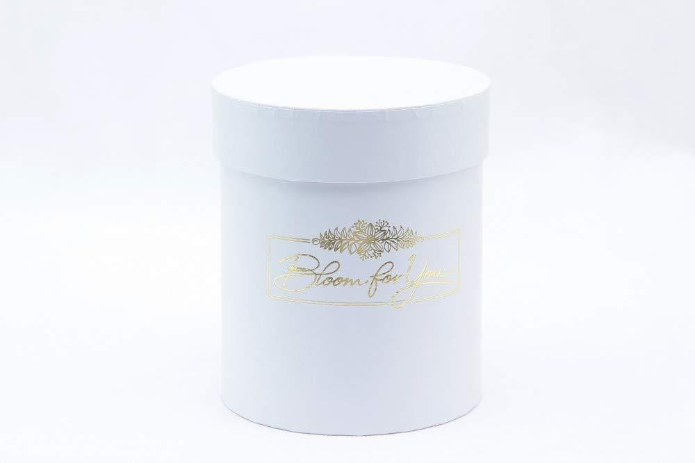 12 x 14 cm Color Blanco Redondo Decoración caja de cartón caja Flower Caja de cartón