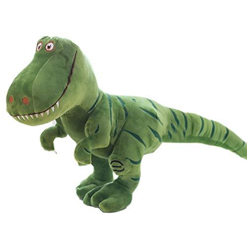 Simulazione Grande Peluche Dinosauro, Creamon 40cm Simulazione Grande Dinosauro Peluche Dinosauro Tyrannosaurus Dragon Doll Boy Giocattoli Verde