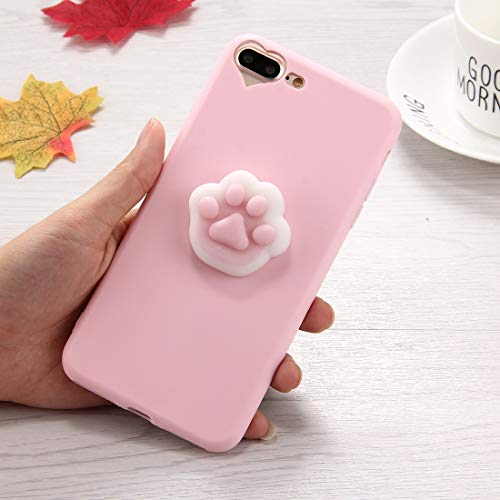 Shiningxie New For iPhone 8 Plus & 7 Plus 3D Paw Print Pattern Squeeze Relief Squishy Dropproof Protective Back Cover Case