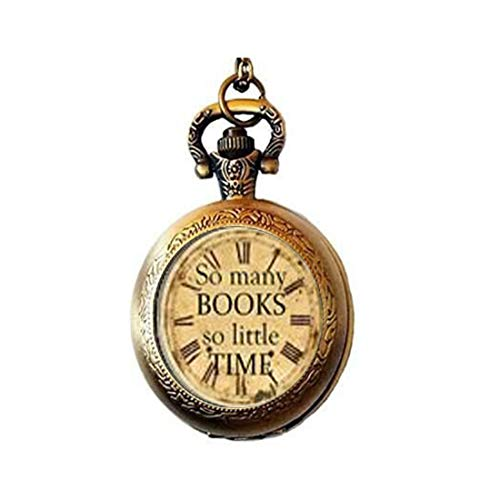 Quote Pendant Pocket Watch ,So Many Books so Little Time Necklace Pocket Watch Charm, Photography Pendant Pocket Watch Glass Tile Jewelry,glass so Many Books so Little Time Watch,so Many Books so Little Time Potphoto