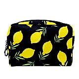 Bolsa de cosméticos Bolsa de Maquillaje para Mujer para Viajar para Llevar cosméticos, Cambio, Llaves, etc. Hojas de limón Sin Costura