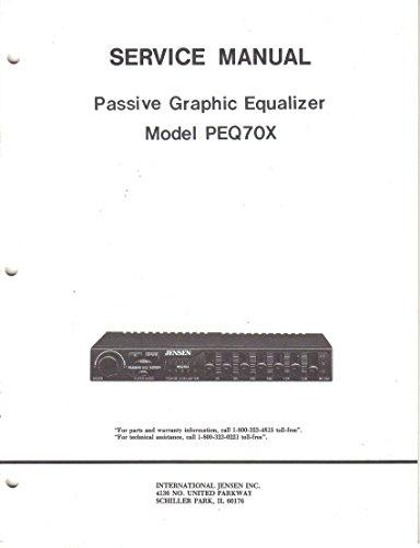 Jensen Model PEQ70X Passive Graphic Equalizer, Service Manual Guide