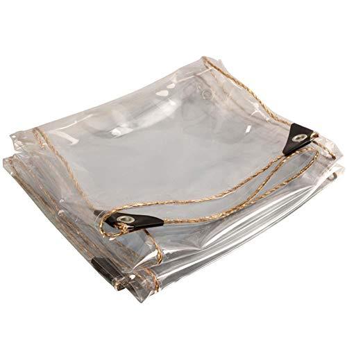 KANGSHENG Lona Transparente Impermeable,450 G/M² Lámina De Lona Impermeable a Prueba De Polvo,Aislamiento PVC Cubierta Exteriores Resistente Al Desgarro,Antienvejecimiento,1.2 * 4m