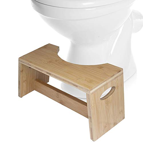 Maxam Cool Stool Natural Potty Toilet Accessory, Bamboo