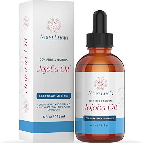 Jojoba Oil Cold Pressed Natural Unrefined Moisturizer Dark Spot Corrector For Face Acne Spot Treatment Stretch Mark Removal Back Acne Treatment Scar Remover Hair Growth Serum Beard Oil For Men 4 oz