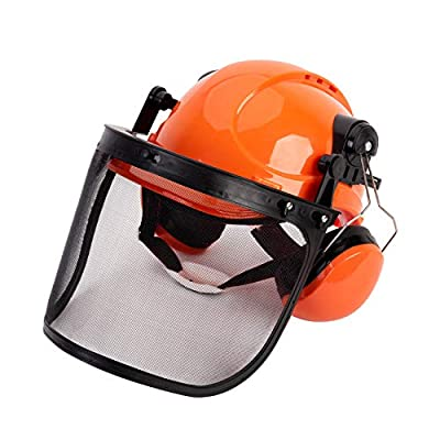 TODOCOPE Chainsaw Safety Helmet with Face Shield and Ear Muffs,Chainsaw Helmet,Safety Helmet,Mesh Face Shield from TODOCOPE