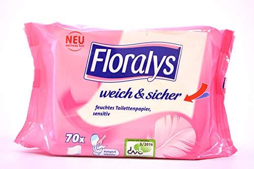 FLORALYS Feuchtes Toilettenpapier, Sensitive, 2er-Set