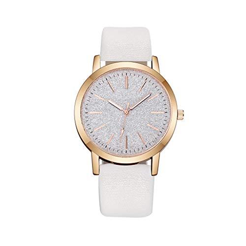 Hasayo Cuero de Cuarzo Reloj de Las Mujeres del Reloj de señoras de Moda Relojes de Las Mujeres del Reloj de Pulsera de Lujo Femenino Ocasional (Color : A)