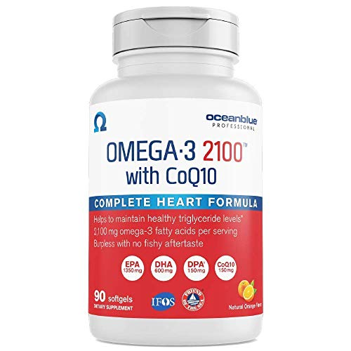 Oceanblue Omega-3 2100 with CoQ10 – 90 ct – Triple Strength...