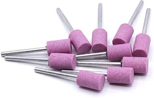 6 piezas de piedras de molienda cilindro Ø10 mm para Dremel, Proxxon...
