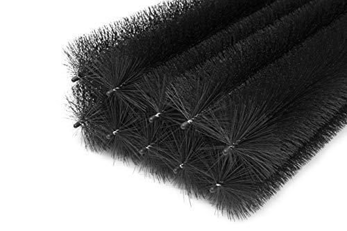 Lot de 20 brosses pour gouttière 20 m 100 cm Ø 15 cm Protection Contre Les Feuilles et Les martres